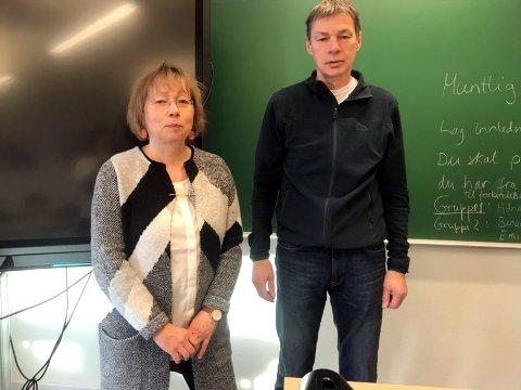 - Det kunne vært en god ide at de som fatter vedtakene kom for å se hvordan undervisningen foregår, sier Ole  Dyrstad og Marit Tjernstad.
