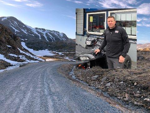 Runar Johnsen i Destinasjon 71 grader Nord sier dette får konsekvenser både for deres bedrift, og for lokalbefolkningen som flittig benytter denne veien.