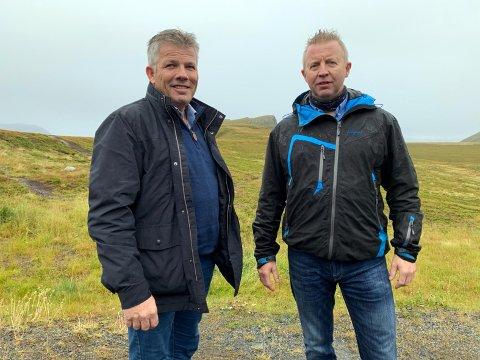 Nestleder i Arbeiderpartiet, Bjørnar Skjæran og forbundsleder for Fagforbundet Industri Energi, Frode Alfheim var sammen på Veidnes på fredag.