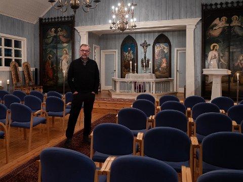 HISTORISK: En kirke fyllt av norsk og russisk ortodoks historie er sjelden vare i Norge.