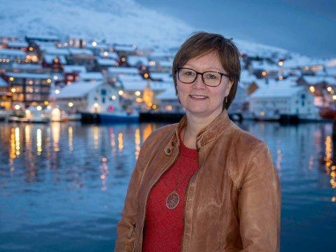 LØFTE I LAG: Senterpartiets Heidi Holmgren vil ha et felles løft for Honningsvåg skole.