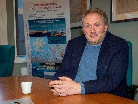 HARDE TIDER: Uten cruiseanløp taper Nordkappregionen Havs IKS store penger. Havnefogd Leif Gustav Prytz Olsen har allikevel måtte oppretteholde driften av havnene i regionen.