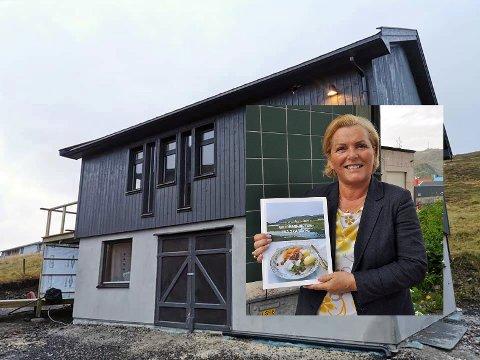 "Lill-Karin Sanna, forfatter av boken Matoppskrifter fra Skarsvåg åpner om kort tid ""Daniels hus"" i Skarsvåg."