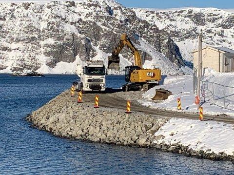 Bildet er tatt like etter at arbeidet startet opp i Kamøyvær.