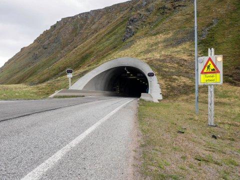 STENGES: I natt er tunellen stengt på grunn av vedlikeholdsarbeid