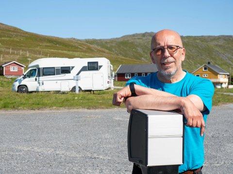 MILLIONINVESTERING: Per Eilert Thomassen har i år brukt 1 million kroner på å oppruste Kirkeporten Camping i Skarsvåg