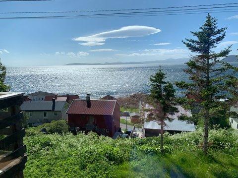 Utsikt fra Nordvågveien i Honningsvåg.