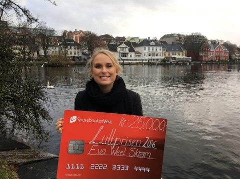 Luttvinnar Eva Weel Skramen på 25.000 kroner.