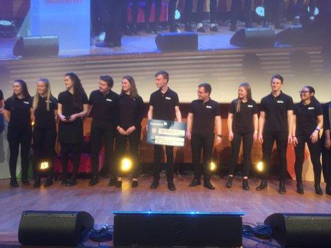 aDABt UB vann prisen for beste forretningsplan under NM for ungdomsbedrifter på Lillestrøm torsdag.
