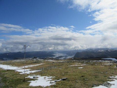 STEINFJELLET: Eva & The Heartmaker skal spele på Steinfjellet, 637 meter over havet.