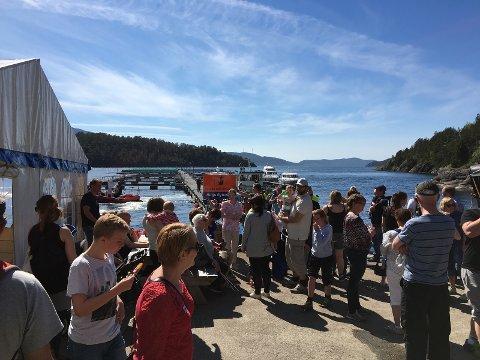 Open dag på Steinvik fiskefarm.