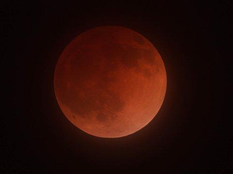Totale måneformørkelser kan være svært vakre! Denne ble fotografert fra California 15. april 2014. Foto: Andrew Tang