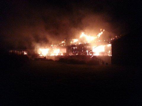 SVINDELFORSØK: Den 25. november 2016 brann Selje Hotell ned, og brannen viste seg å vere påsett.