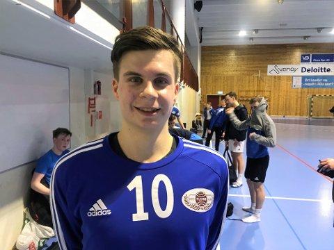 SKYTTAR: Florøbacken Magnus Helland har utvikla seg mykje som handballspelar dei to siste åra. No er han belønna med regional landslagsplass.