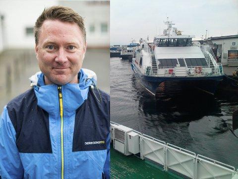 Kim Gunnar Jensen (Ap) fekk gjennomslag for eit framlegg om at båtane bør overnatte i øyane - noko som kan gje betre båtruter.