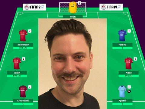 SUPERMANAGER: Kjartan Hjermann Døhlie er i skrivande stund landets beste i Fantasy Premier League.