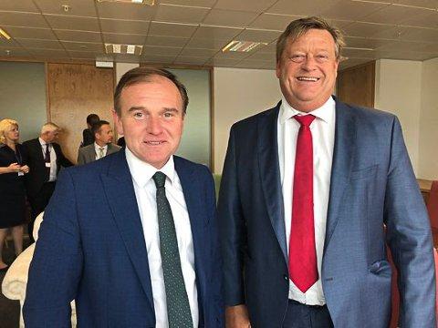 Fiskeri- og sjømatminister Harald T. Nesvik møtte sin britiske kollega George Eustice for å diskutere fiskekvotar og brexit i går.