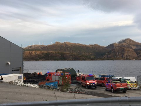 INGEN PERSONSKADE: Ingen av personellet skal ha kome til skade i samband med havariet på ein bioreaktor hjå Havlandet på Fjordbase tysdag.