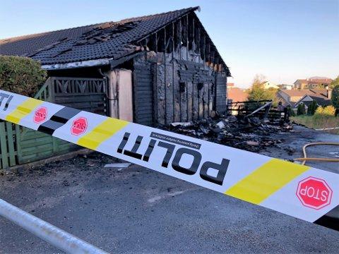Brann i rekkehus i Havrenesvegen natt til fredag 29. mai.