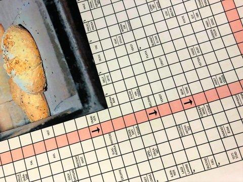 ULESELEG: Fleire lesarar fekk fredag eit uleseleg eksemplar av kryssordet til Firdaposten veke 32.