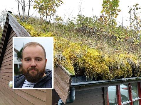 IKKJE HALDBART: Jón Valur Ólafsson er uroa for at vedlikehaldet på omsorgstunet i Eikefjord er for dårleg. No ber han om svar frå administrasjonen.