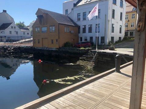 HINDER: Sjøbua til Strandgata 19 står i vegen for ein sjøpromenade.