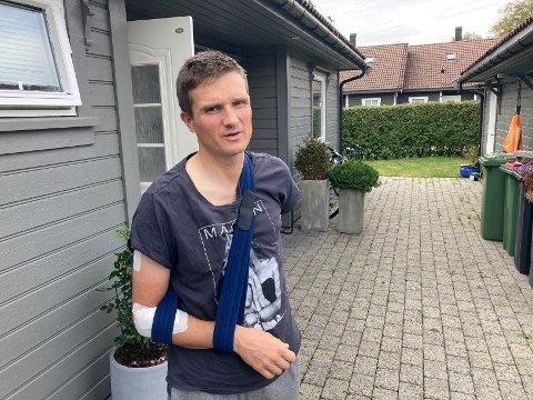VIL IKKJE KRITISERE: Etter mange år på sykkelsetet, veit Mikael Johansen at samspelet mellom bilistar og syklistar ikkje alltid er det enklaste å få til: - Eg vil ikkje bebreide nokon, seier florøsyklisten.