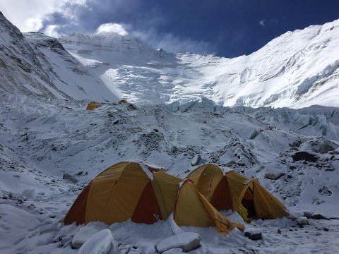 Camp 2, under Mount Everest