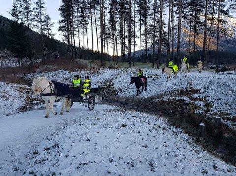 VÊRAVHENGIG: – Ridehallen vil gi meir kontinuitet i undervisninga, seier elevrådsrepresentant Steffen Fjellstad. Ridehallen gjer at den praktiske hesteundervisninga blir mogleg når utebana er full av is og snø.
