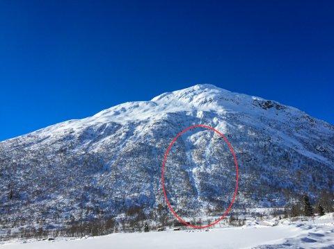 Det gjekk eit ras frå topptur-fjellet Togga torsdag.