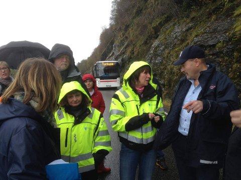 SYNFARING: Bildet er frå ei tidlegare synfaring på Heilevang. På bildet: Åashild Kjelsnes, Jenny Følling, Gunnar Osland og Tove Ekreskar Nervik.
