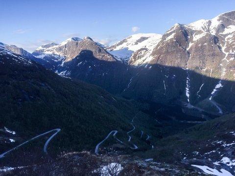 Utsikt frå Utsikten på Gaularfjellet.