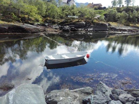 FORTØYD: Slik ligg båten til vanleg.