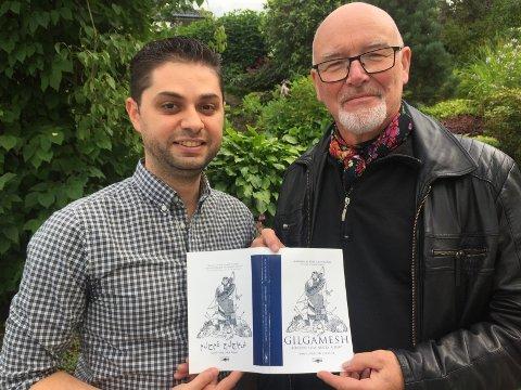 Moayad Khalil (t.v.) har omsett Rolf Losnegård si bok til arabisk.