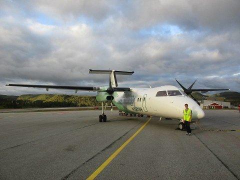 Widerøe fly på vei til Bergen fra Førde