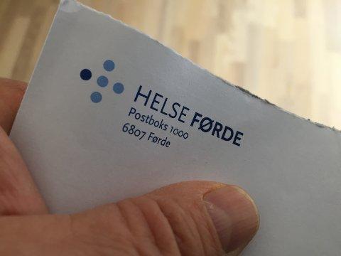 MISTYDING: Einskilde pasientar ser ut til oppfatte namnet «Helse Førde» litt for bokstavleg.
