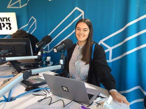 PÅ JOBB: Helene begynte som nyheitsjournalist i P3 nyheitene.