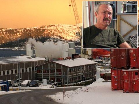 SYRELEKKASJE: 64-åringen har vore kranførar på oljebasen sidan starten i 1985, men han har aldri opplevd noko i nærleiken av dagens situasjon.