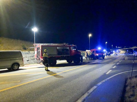 ULYKKE: Motorsyklist omkom etter frontkollisjon med bil på E39 på Norevikane onsdag 23. oktober.