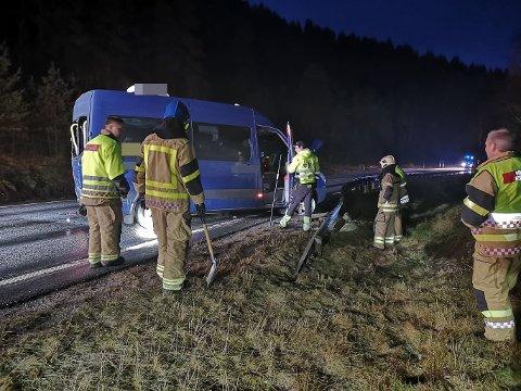 ULYKKE: Naudetatane rykte ut til ulykka ved Svarthumle tysdag morgon.