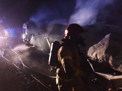 BRANNEN: Slik såg det ut etter brann i Gudvangatunnelen 30. mars 2019.