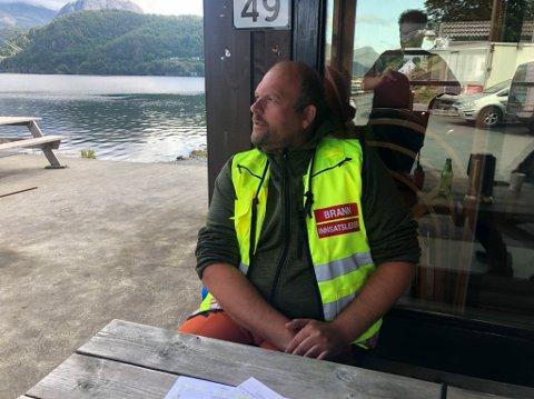 LEIAR LEITINGA: Eivind Antonisen har leia leitinga etter den sakna mannen fredag morgon.