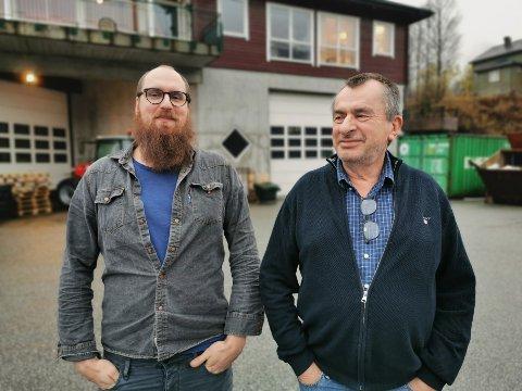 SKIPSINNREIARAR: Far og son Odd  og Steffen (t.v.) Birkeland eig og driv Maritime Montering.