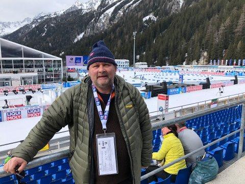 KLAR: Bjørn Magne Solheim frå Askvoll er denne veka på skiskyttar-VM i Anterselva.