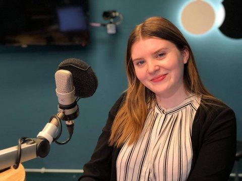 NY PROGRAMLEIAR: Frå april er Elise Kvien ny programleiar i «God morgon Sogn og Fjordane». saman med Stian Sjursen Takle