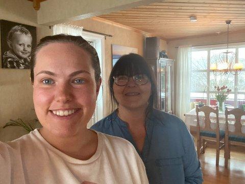 HEIME: Mamma Laila Lien er utruleg glad for å ha fått dottera, Birte-Alise Lien Espeland, trygt heim att til Naustdal.