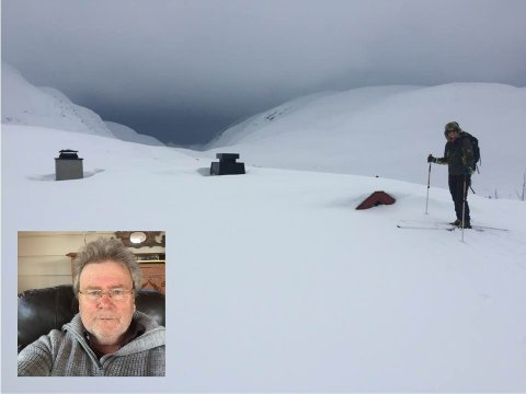 NEDSNØDD: Hytta har gøymt seg godt under snøen.