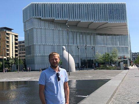 Øystein Sandnes frå Jølster har vore prosjektsjef for nye Deichmanske bibliotek i Oslo.
