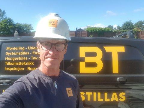 SLUTTAR: Kenny Bjørbæk-Standal sluttar som dagleg leiar i BT Stillasutleige. No er han på jakt etter erstattaren sin.