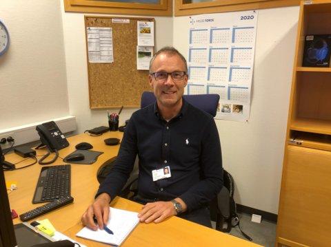 HOVUDJAKT: Svein Ove Alisøy er avdelingssjef i Helse Førde, og har no ute 34 nyoppretta stillingar til den nye seksjonen psykose og tryggleik.